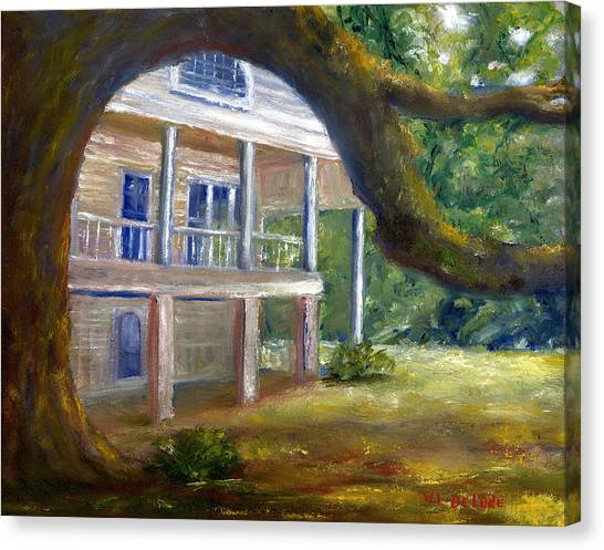Old Southern Louisiana Mansion Plantation Canvas Print