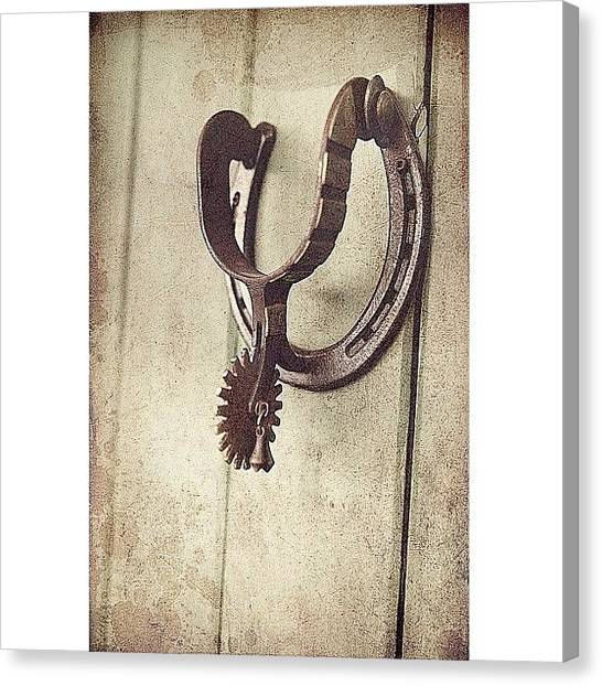 Spurs Canvas Print - Old Spur At Buffalo Bill's Gravesite by Cristi Bastian