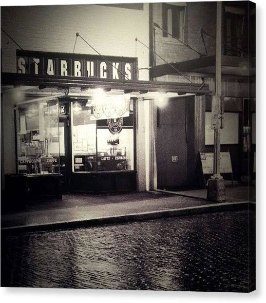 Meat Canvas Print - Old Starbucks by Jade Alexa Terando