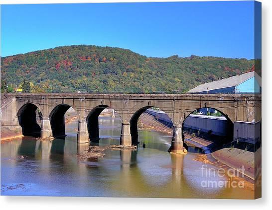 Old Stone Bridge - Johnstown Pa Canvas Print