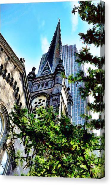Old Stone Church - Cleveland Ohio - 1 Canvas Print