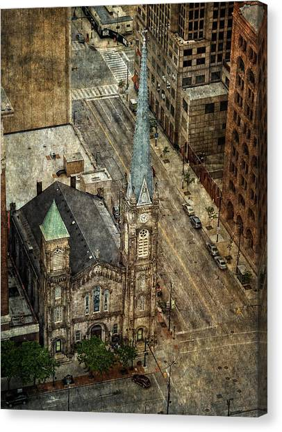 Old Stone Church Canvas Print