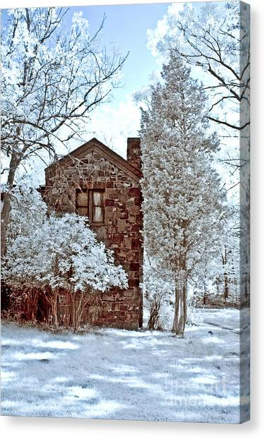 Old Stone House Canvas Print