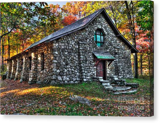 Old Stone Lodge Canvas Print
