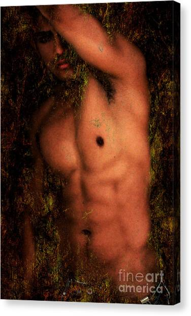 Bodybuilder Canvas Print - Old Story 1 by Mark Ashkenazi