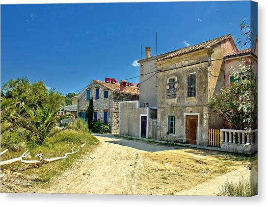 Old Streets Of Susak Island Canvas Print