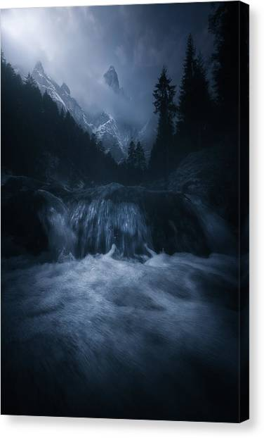 Dolomites Canvas Print - Old Style Dolomites by Luca Rebustini