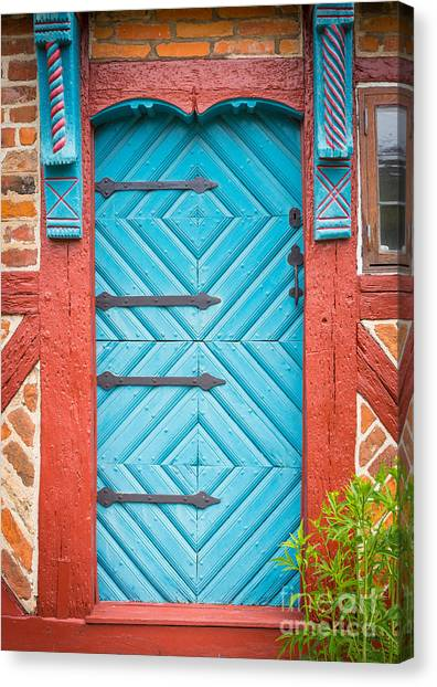 Europa Canvas Print - Old Swedish Door by Inge Johnsson