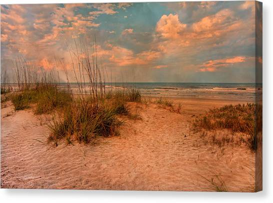 Seagrass Canvas Print - Old Time Beach by Betsy Knapp