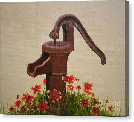 Old Time Pump Canvas Print