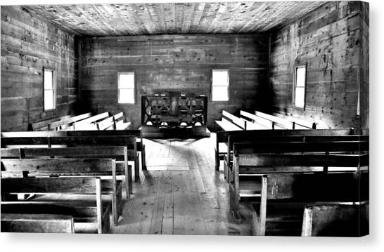 Fundamentalism Canvas Print - Old Time Religion -- Cades Cove Primitive Baptist Church by Stephen Stookey