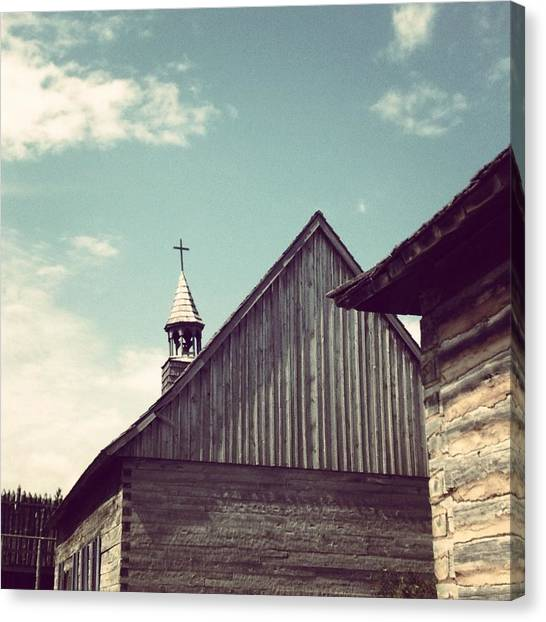 Barns Canvas Print - Old Time Religion by Christy Beckwith