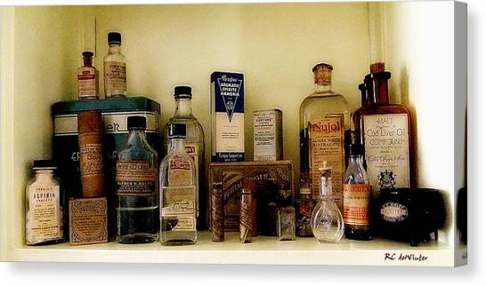 Old-time Remedies Canvas Print