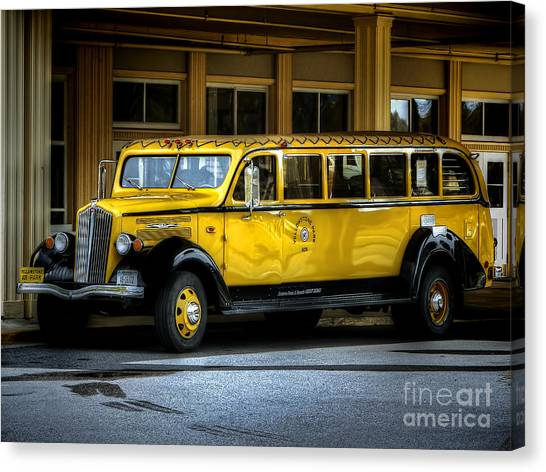 Old Time Yellowstone Bus II Canvas Print