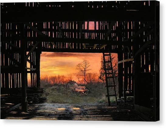 Old Timers Sunset Canvas Print