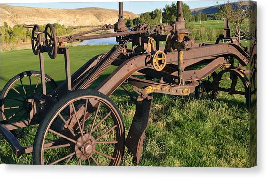 Old Timey Grader Canvas Print