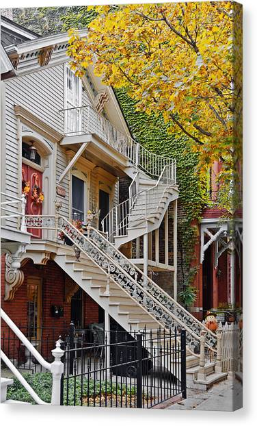 Old Houses Canvas Print - Old Town Chicago Living by Christine Till