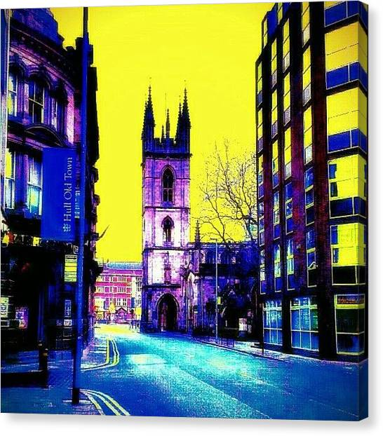 Drake Canvas Print - Old Town In Hull City Centre!! by Chris Drake