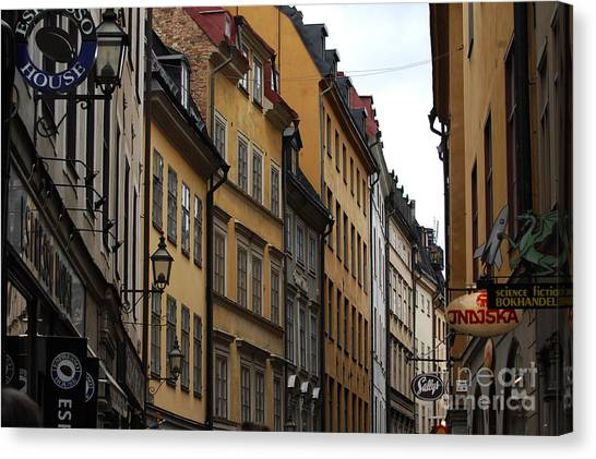Old Town In Stockholm Sweden Canvas Print by Micah May