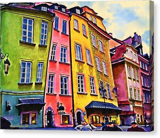 Old Town In Warsaw #4 Canvas Print