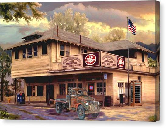 Dr. Pepper Canvas Print - Old Town Irvine Country Store by Ron Chambers