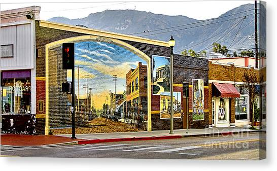 Old Town Mural Canvas Print