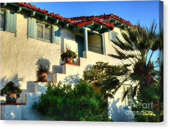 Old Town San Diego Canvas Print - Old Town San Diego Shadows by Mel Steinhauer