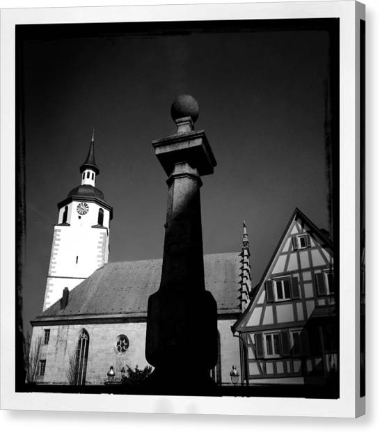 European Canvas Print - Old Town Waldenbuch In Germany by Matthias Hauser
