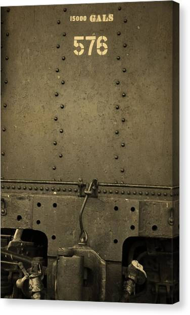 Train Conductor Canvas Print - Old Train Hookup by Dan Sproul