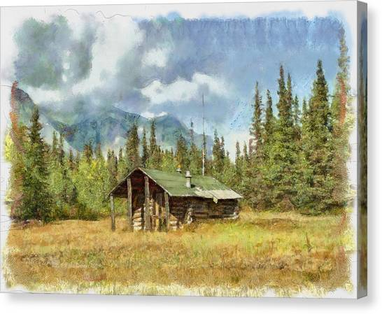 Old Trappers Cabin Canvas Print