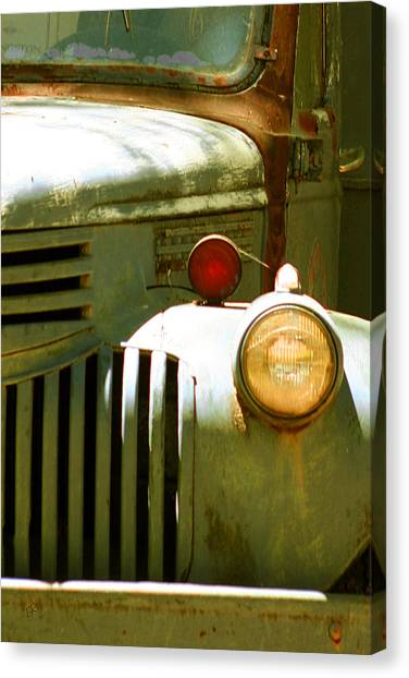 Old Truck Abstract Canvas Print