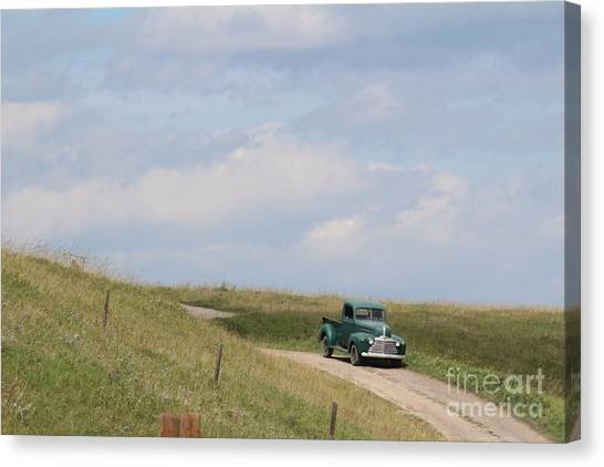 Canvas Print featuring the photograph Old Truck by Ann E Robson