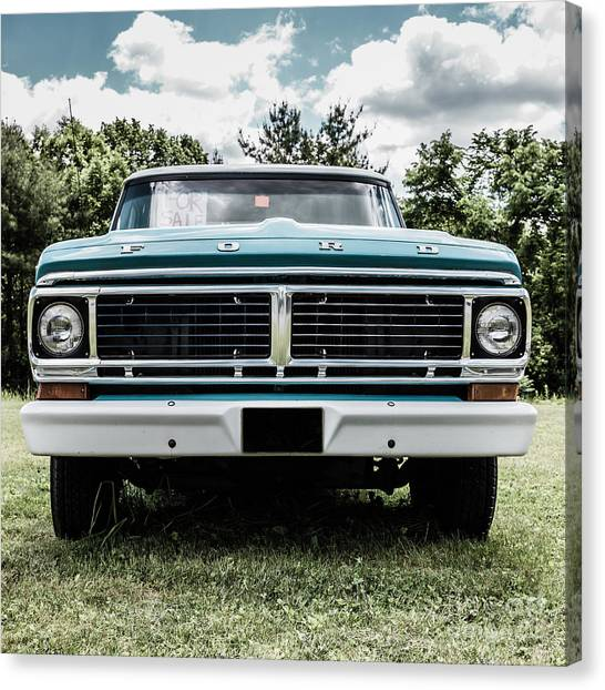 Ford Truck Canvas Print - Old Ford Truck For Sale by Edward Fielding