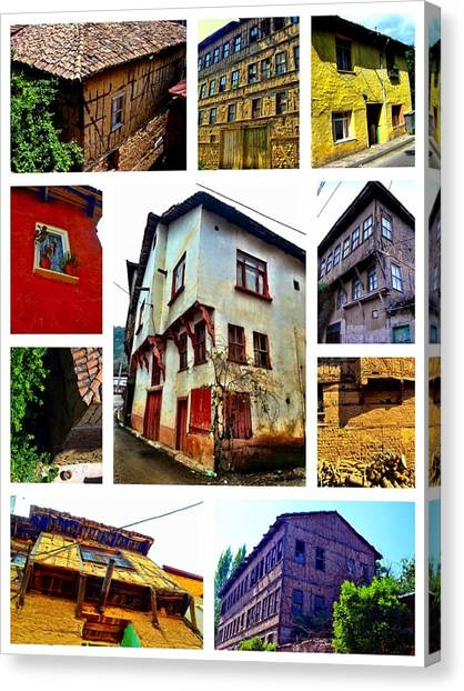 Old Turkish Houses Canvas Print