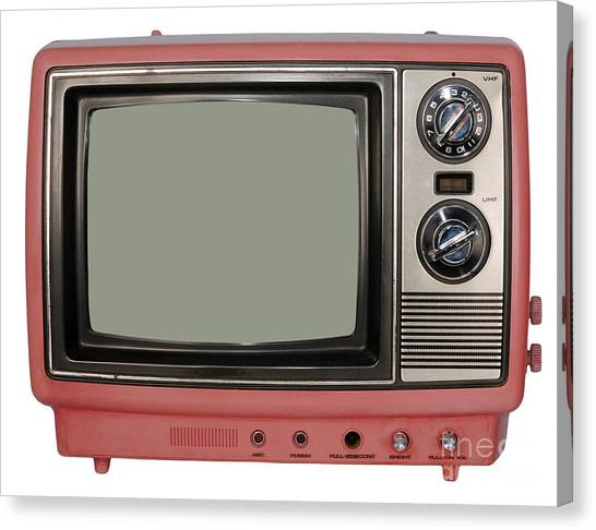 Vintage Tv Set Canvas Print