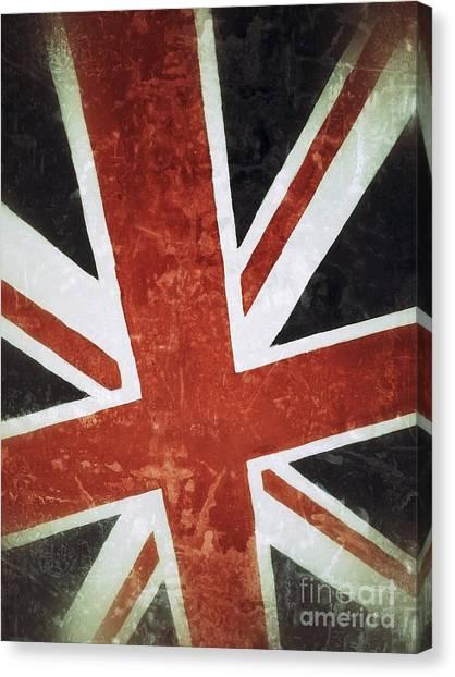 Democratic Canvas Print - Old Uk Flag by Carlos Caetano