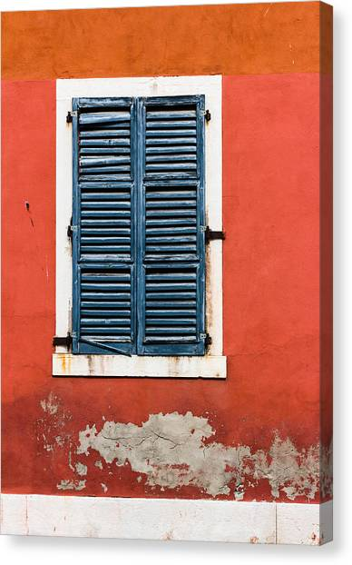 Old Venetian Window Canvas Print