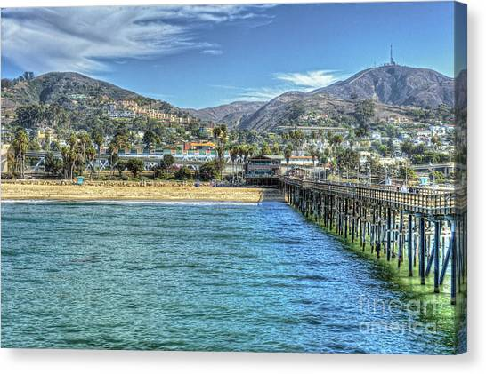 Old Ventura City From The Pier Canvas Print
