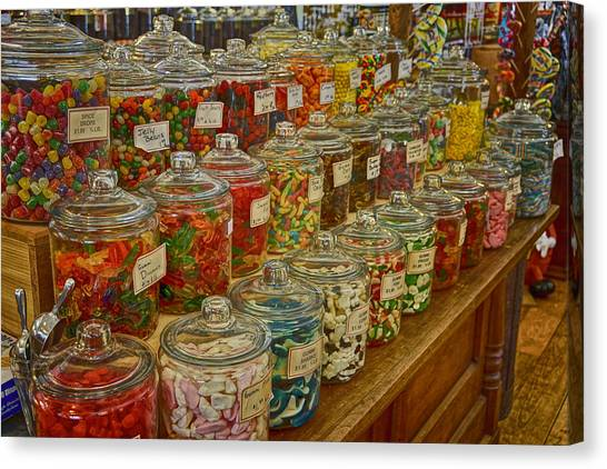 Old Village Mercantile Caledonia Mo Candy Jars Dsc04014 Canvas Print