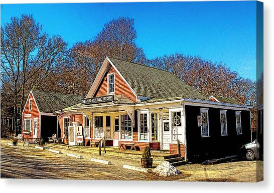 Old Village Store Canvas Print