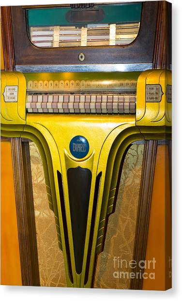 Jukebox Canvas Print - Old Vintage Mills Empress Jukebox Dsc2789 by Wingsdomain Art and Photography