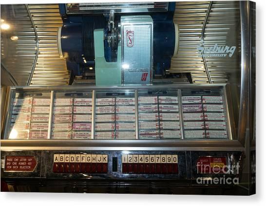 Jukebox Canvas Print - Old Vintage Seeburg Jukebox Dsc2752 by Wingsdomain Art and Photography