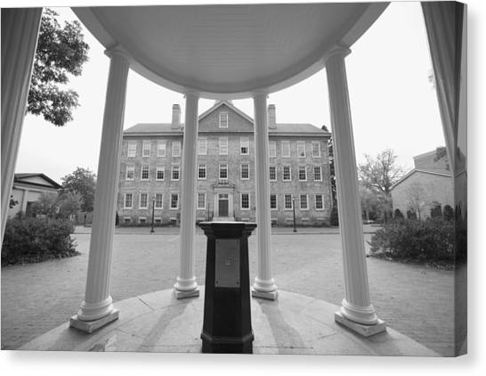 University Of North Carolina Chapel Hill Canvas Print - Old Well And South Building - Carolina Photo - Unc by Matt Plyler