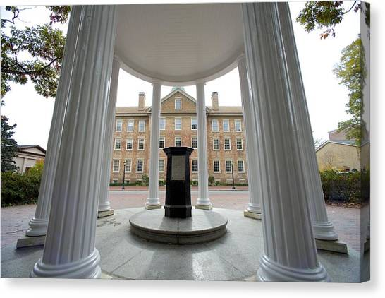 University Of North Carolina Chapel Hill Canvas Print - Old Well And South Building - Unc  by Matt Plyler
