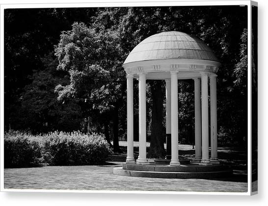 Unc Canvas Print - Old Well At Unc by Georgia Fowler