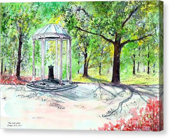 Old Well Chapel Hill Canvas Print