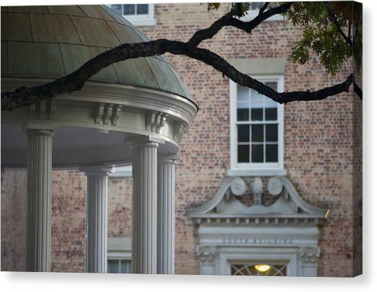 University Of North Carolina Chapel Hill Canvas Print - Old Well Dome And South Building - Carolina Photo - Unc by Matt Plyler