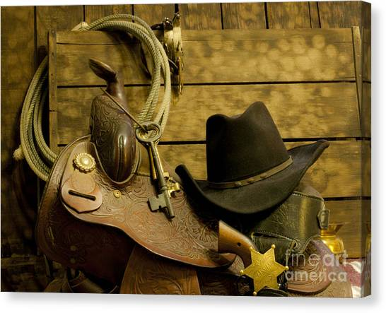 Old West Marshal Canvas Print by Ronald Hoggard