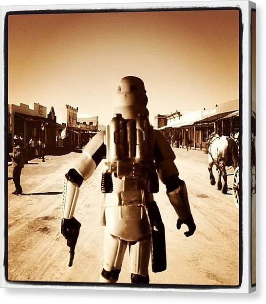 Soldiers Canvas Print - Old West - Star Wars Series by Tony Leone