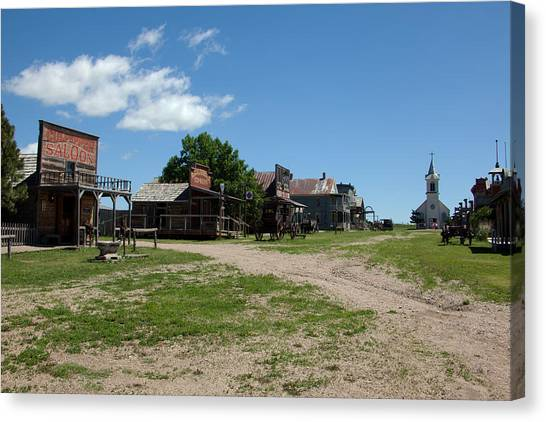 Old West Town Canvas Print